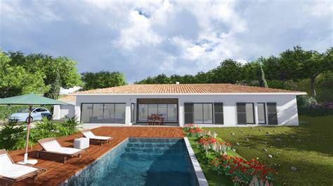 Architecte Salon De Provence by Villa Contemporaine 170m2 Plain Pied Mod 232 Le Glycine