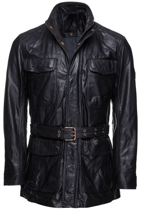 Handmade Jackets - handmade new stylish front multi pockets leather coat