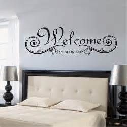 removable welcome wall sticker decal home family decor popular free quotes buy cheap free quotes lots from china