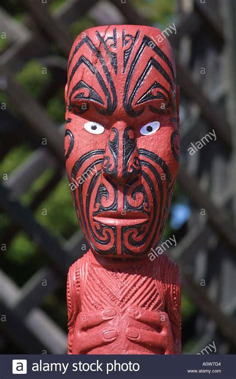 eye tattoo rotorua wooden head maori carving at rotorua north island of new