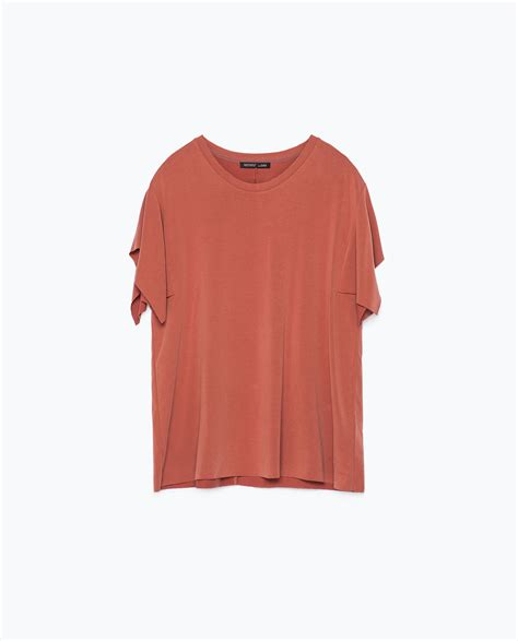 kimono t shirt pattern zara kimono sleeve t shirt in red lyst