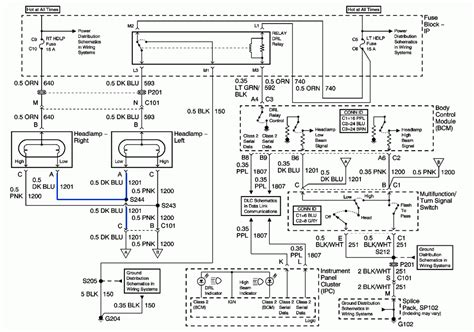 looking for headlight system wiring diagram for 2005 gmc 6500 day light works but not headlights 2004 chevy trailblazer high beam headlight wiring harness 57 wiring diagram images wiring