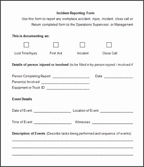doc 585650 incident report word template incident 4 incident report template sletemplatess