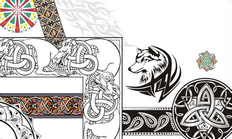 decorations tattoos and celtic clipart vector images on