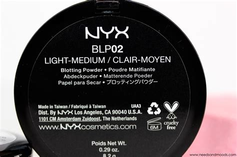 Nyx Blotting Powder nyx blotting powder blp02 beaut 233 needs and moods