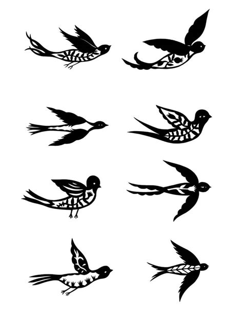 tattoo stencil printer ink black ink flying birds tattoo design stencil truetattoos