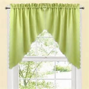 Green Swag Curtains Window Curtain Swag Valance Pair In Green Bed