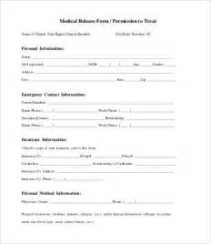 personal information release form template release form template 10 free sle exle format
