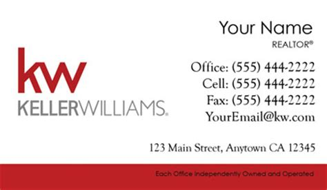 Keller Williams Buisness Card Template by Keller Williams Business Cards 69 99 Professionally