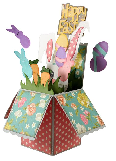 Pop Up Gift Card Boxes - easter pop up box card pazzles craft room