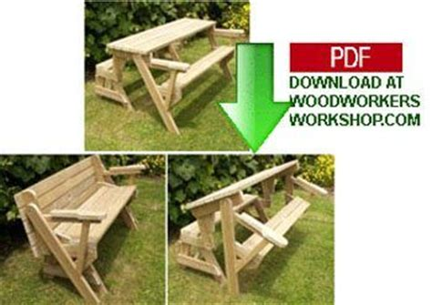 folding bench and picnic table combo pdf woodworking