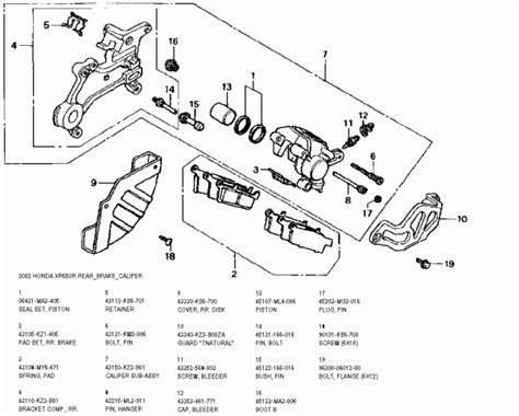 brake caliper parts diagram rear brake caliper diagram images