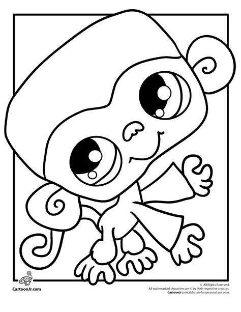 printable coloring pages monkey quest littlest pet shop coloring page monkey cartoon jr