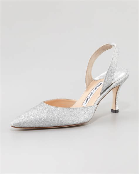 silver sandal mid heel shopstyle quot carolyne quot shoes in silver glitter with 3 quot heel closed