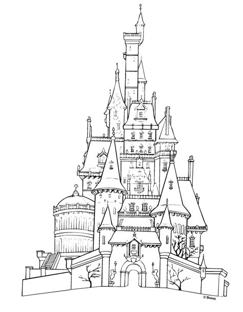 Beauty And The Beast Castle Coloring Pages | castle coloring book