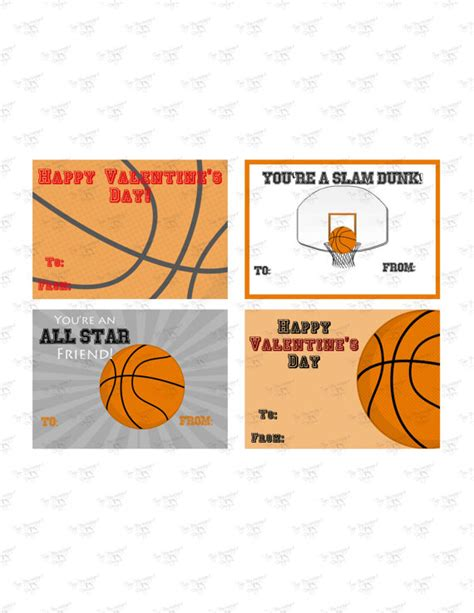 basketball valentines valentines day cards print your own basketball