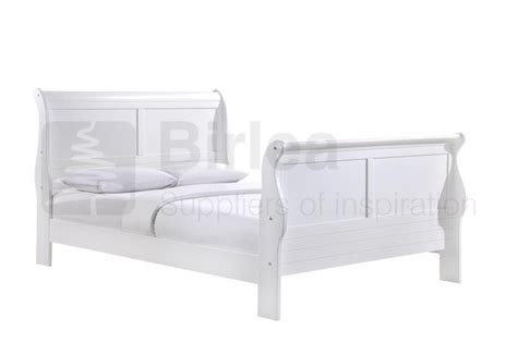 white sleigh bed birlea chateaux white wooden sleigh bed frame beds direct