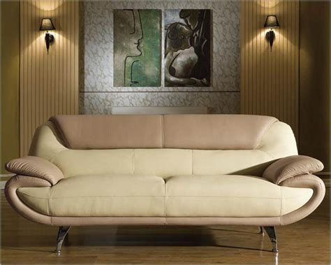Two Tone Leather Sofa Modern Two Tone Bonded Leather Sofa Set 44l2812