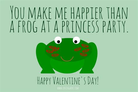 Frog Valentines Card Free Template by Sweet Treats Free Foodie Printable Cards