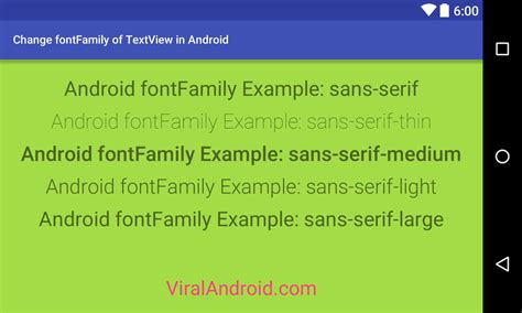 android default font how to change fontfamily of android textview viral android tutorials exles ux ui design