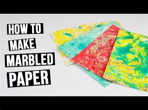 How To Make Marbled Paper - how to make a marbled paper for scrapbooking