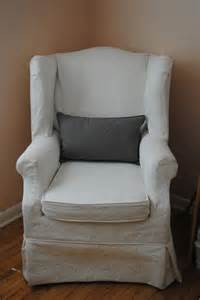 Custom Wing Chair Slipcovers Wingback Chair With Slip Cover