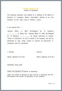 Trustee Resolution Template by Board Resolution Templates 4 Sles For Word And Pdf