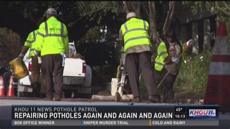 City Of Houston Records Works Fills But Then Refills Thousands Of Potholes