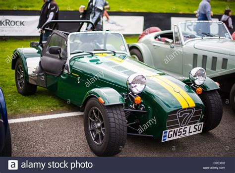 caterham 7 in racing green stock photo royalty