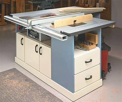 table saw station plans free woodworking projects plans