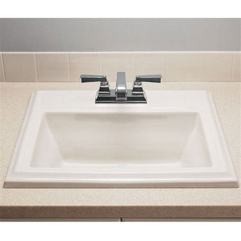 square sink bathroom american standard town square 0700004 countertop sink
