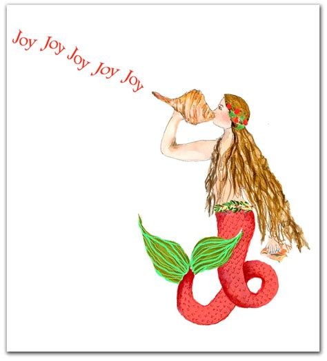 a nautical xmas mermaid cards nautical cards by shirleybell