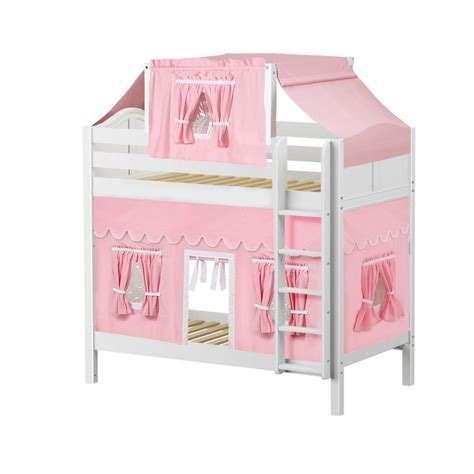 bunk bed tents and curtains maxtrixkids alto23 wc high bunk bed with straight