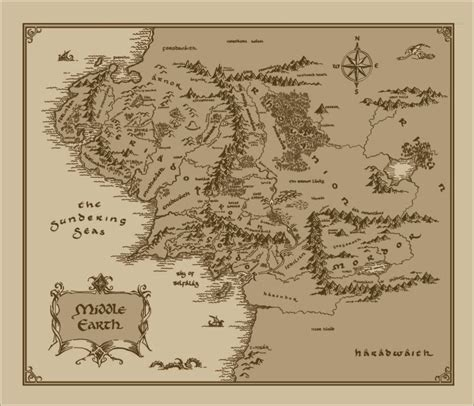 lord of the rings map medium middle earth map cotton fabric lord of the rings