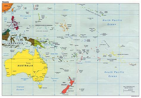 australia map with countries and capitals maps of australia and oceania and oceanian countries