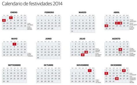 calendario 2014 con festivos para imprimir y descargar gratis