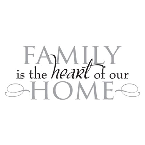 Family Wall Stickers Quotes family heart of home wall quotes decal wallquotes com