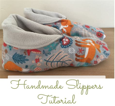 Handmade Craft Tutorial - how to sew your home slippers tutorial and pattern you
