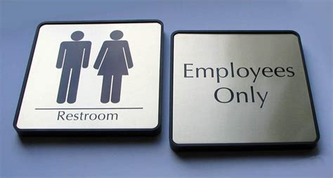 bathroom signages mens and womens restroom signs bathroom signs for business