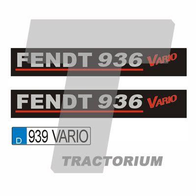 Fendt Aufkleber Set by Tractorium Aufkleber Set 1017 Typ Fendt 900 Black