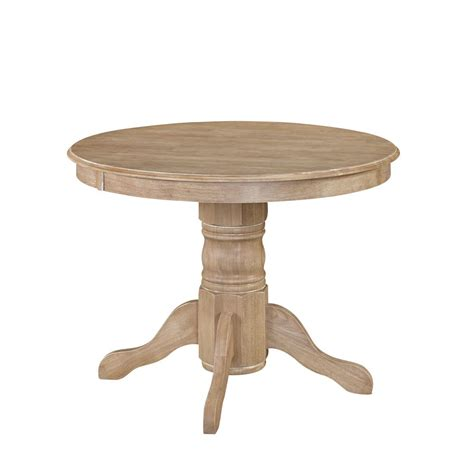 whitewashed round dining table home styles french countryside oak and rubbed white dining