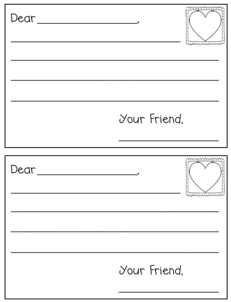 letter writing template freebielicious