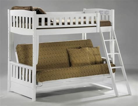Futon Bunk Bed Wood White Wooden Futon Bunk Bed