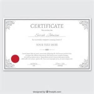 modelo de certificado no estilo ornamental baixar
