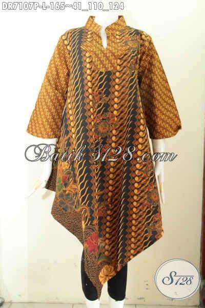 Baju Terusan Wanita Bahan Halus Untuk Kerja busana batik terusan dress batik klasik bawah lancip