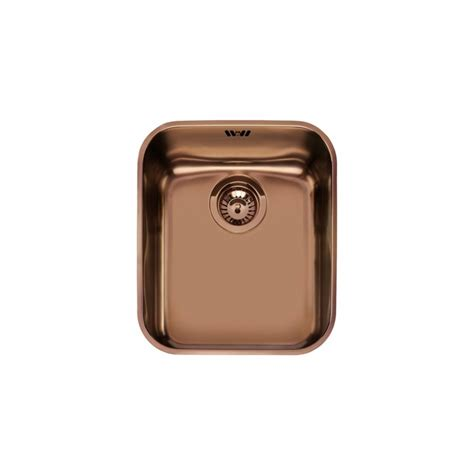 Smeg Kitchen Sinks Smeg Um40ra Undermounted Kitchen Sink Single Bowl Copper 40 Cm Fab