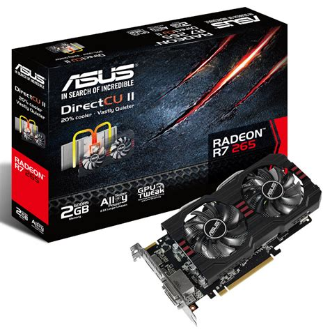 Asus Laptop Amd Graphics Card asus announces r7 265 directcu ii graphics card techpowerup forums