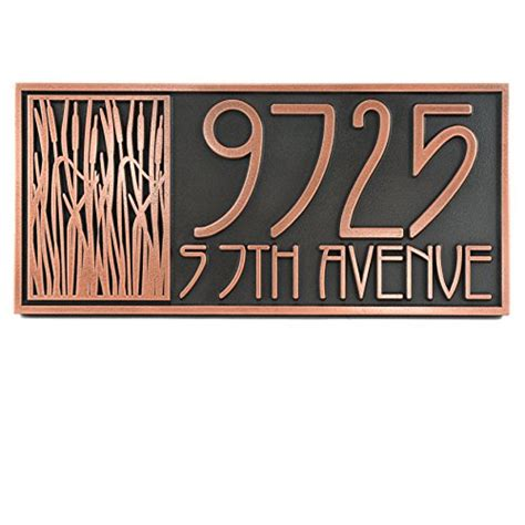 where to buy house numbers where to buy cattail craftsman house numbers 18x8 5 raised copper patina coated rivka shock