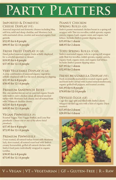 catering menu jimbosnaturally