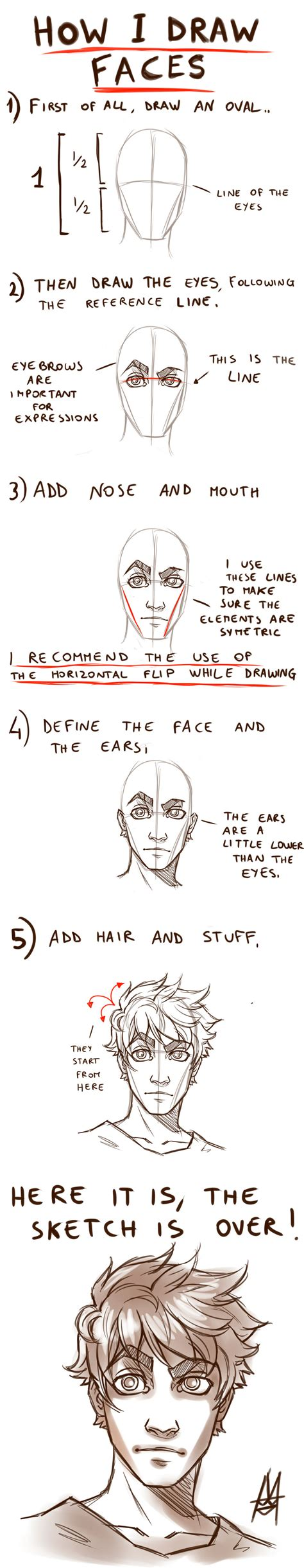 pattern on how to sketch face tutorial how to draw a face by mauroillustrator on deviantart
